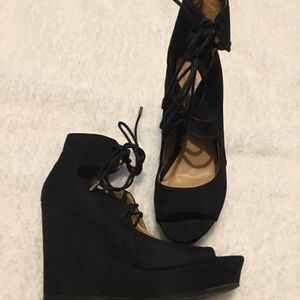 Suede Wedges Size 7